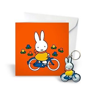Miffy Grußkarte mit Schlüsselanhänger