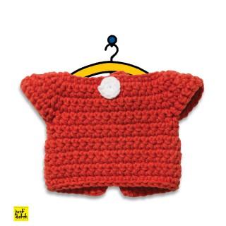 Rotes Kleid - Wechselkleidung für Strickmiffy