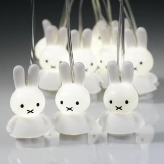 Miffy Lichterkette - weiß