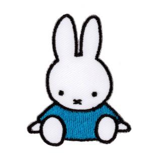 2 in 1 Bügelbild-Sticker Miffy im blauen Kleid