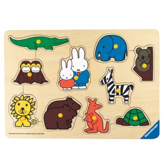 Miffy Steckspiel Zoo groß