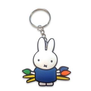 Schlüsselanhänger Miffy malt - blau