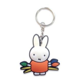 Schlüsselanhänger Miffy malt - orange