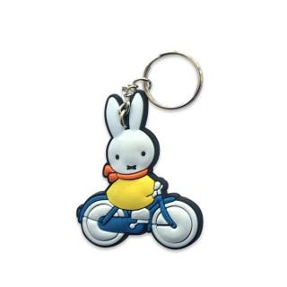 Schlüsselanhänger Miffy auf dem Fahrrad
