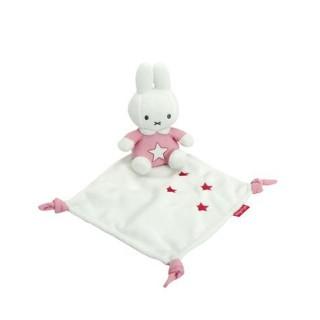 Miffy Kuscheltuch denim pink