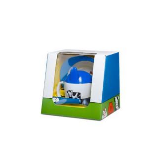 Geschirr-Set 3tlg - Bauernhof blau