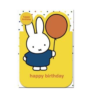 Miffy Karte - Happy Birthday!