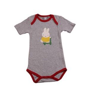 Miffy Body - rot grau Größe 50/56