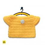 Gelbes Kleid - Wechselkleidung für Strickmiffy
