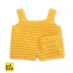 Gelbe Latzhose - Wechselkleidung für Strickmiffy