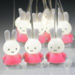 Miffy Lichterkette - rosa