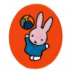 2 in 1 Bügelbild-Sticker Miffy spielt Ball