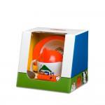Geschirr-Set 3tlg Bauernhof orange