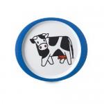 Kinderteller Bauernhof blau